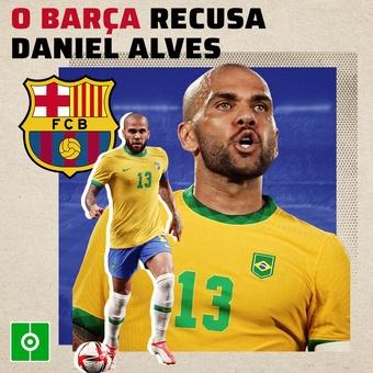 O Barça recusa Daniel Alves, 16/10/2021