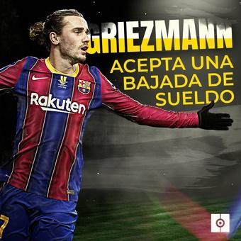 Griezmann acepta una bajada de sueldo, 27/07/2021
