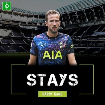 Harry Kane stays at Tottenham, 25/08/2021