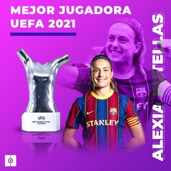 Mejor jugadora UEFA 2021 Alexia, 26/08/2021