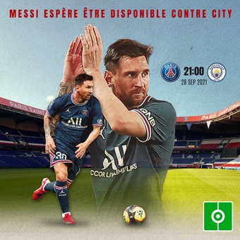Messi contre Manchester City, 25/09/2021