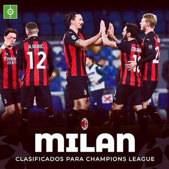 Milan clasificado champions, 23/05/2021