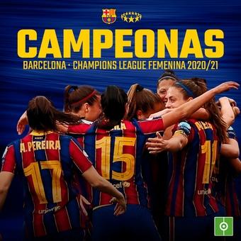 Campeonas Barcelona Femenino, champions league fem, 16/05/2021