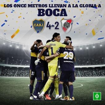 Los once metros llevan a la gloria a Boca, 17/05/2021