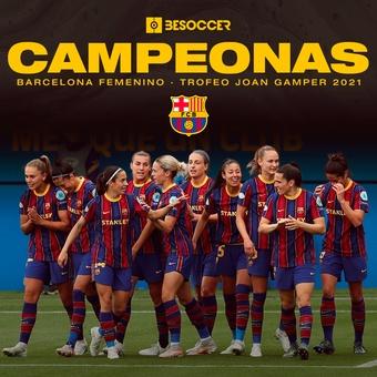 Campeonas trofeo Joan Gamper, 08/08/2021