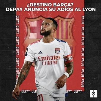 Depay anuncia su adiós al Lyon, 21/05/2021