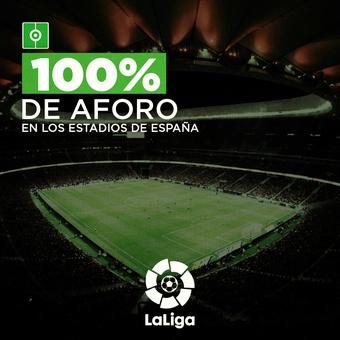 100% DE AFORO EN LOS ESTADIOS DE ESPAÑA, 30/09/2021