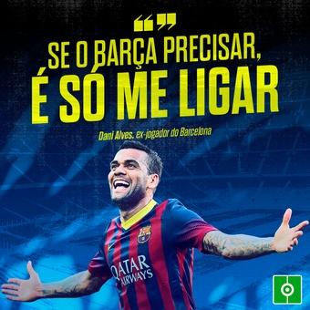 Dani Alves se oferece ao Barça, 17/10/2021