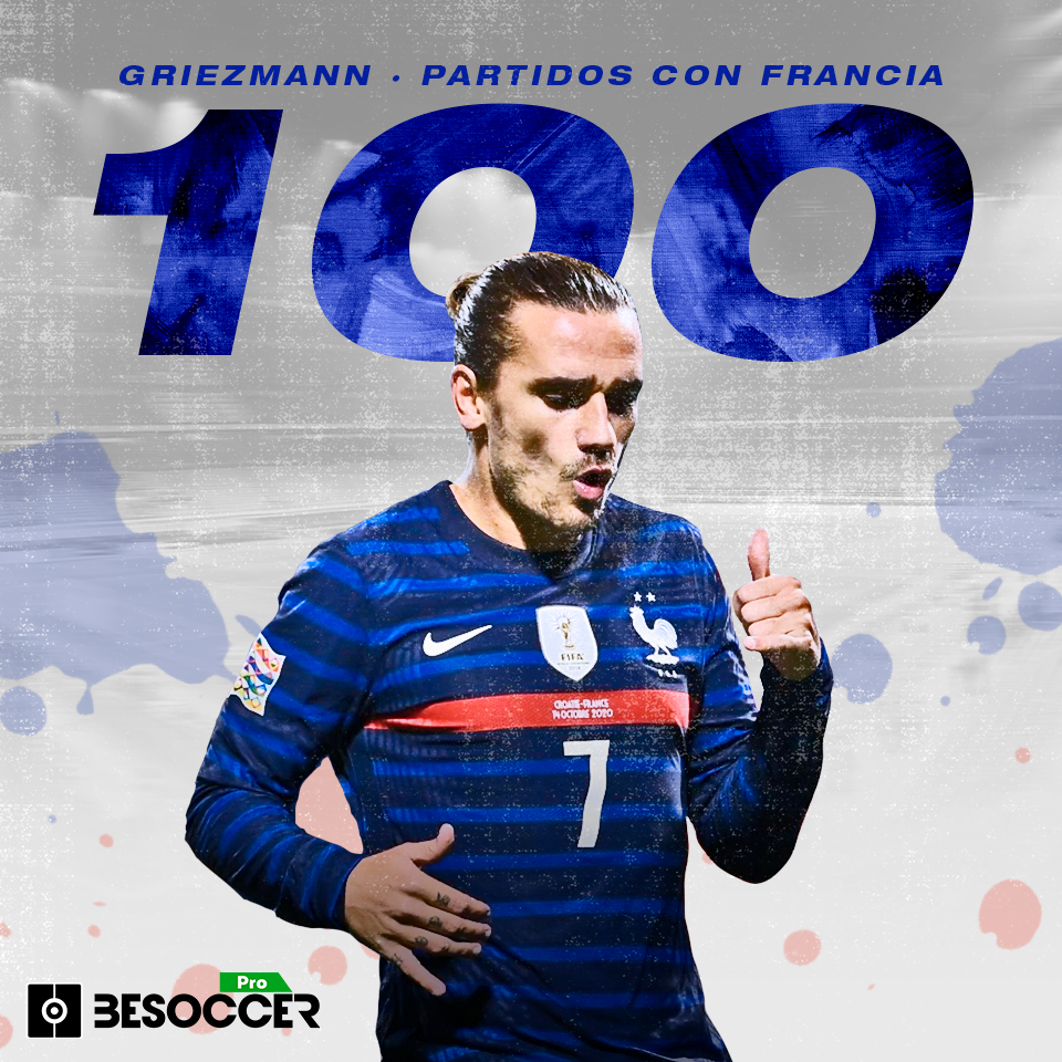 Griezmann cumple 100 partidos con Francia