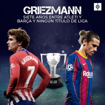 Griezmann sin ganar ningún título de la liga, 06/09/2021