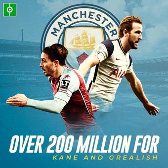 Over 200 million for Kane and Grealish, 17/07/2021