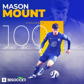 Mount 100 partidos Chelsea, 28/04/2021