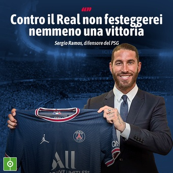 Frase di Ramos sul Real Madrid, 14/07/2021