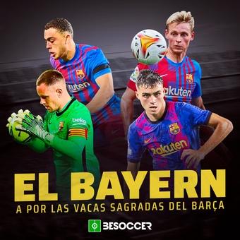 El Bayern, a por las vacas sagradas del Barça, 12/10/2021