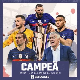 A França é campeã da Liga das Nações da UEFA 2021. BeSoccer