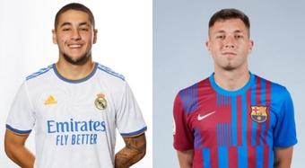 Óscar Aranda, del Madrid; Antonio Aranda, del Barça. RealMadrid/FCBarcelona