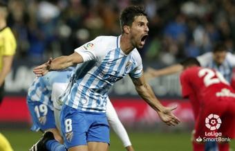 Adrián González jugó tres temporadas en el Málaga. Archivo/LaLiga