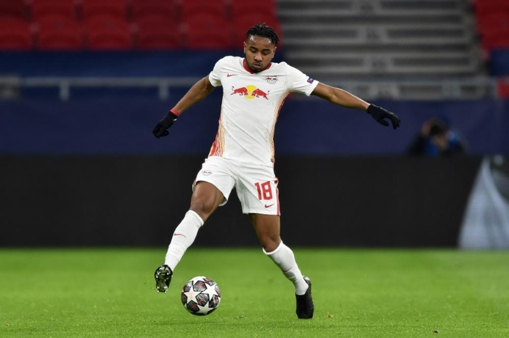 Christopher Nkunku despertó el interés del Manchester City. AFP