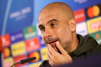 Manchester City manager Pep Guardiola recalled Raheem Sterling to his starting line-up. AFP