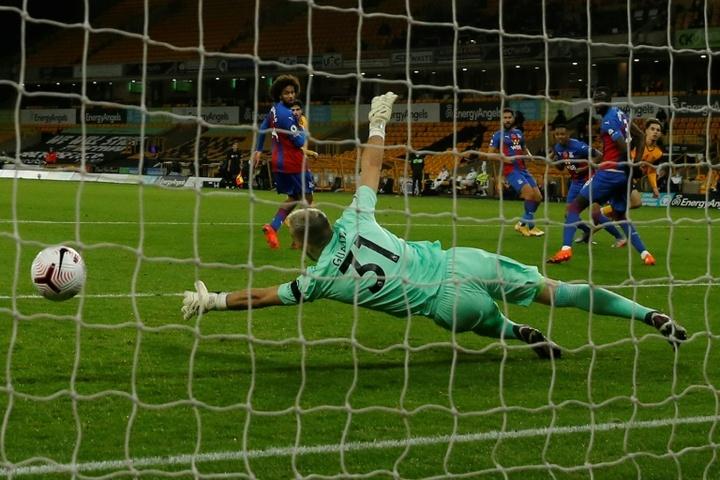 Rayan Aït-Nouri marcó un solo gol con los Wolves: el de la imagen. AFP
