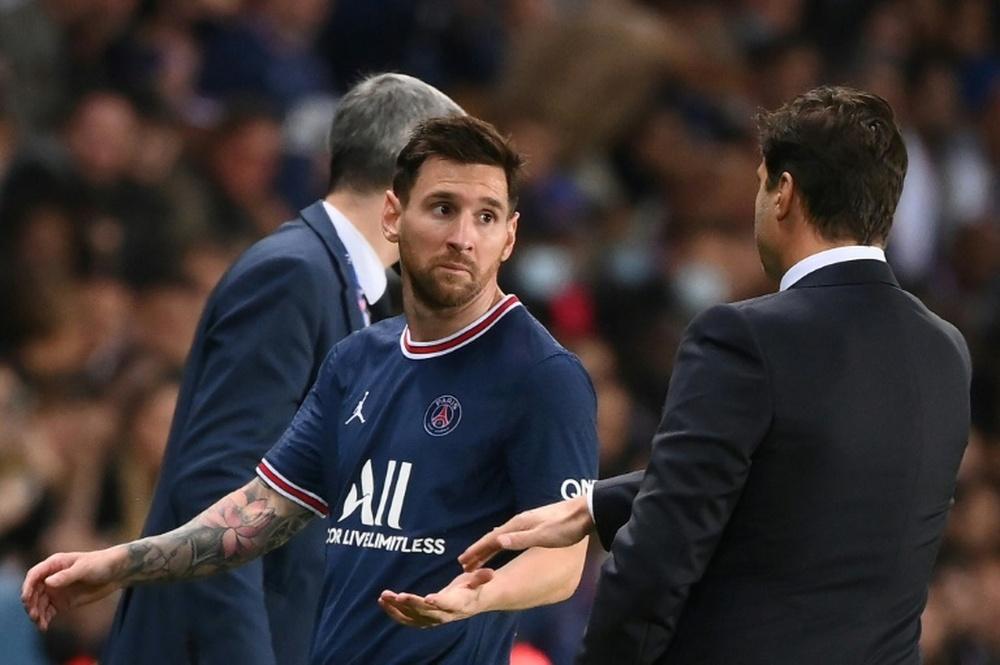 Pochettino torna sulla sostituzione di Messi. AFP