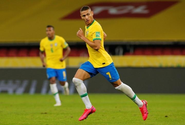 La liste du Brésil pour les JO de Tokyo, avec Richarlison et Dani Alves. afp