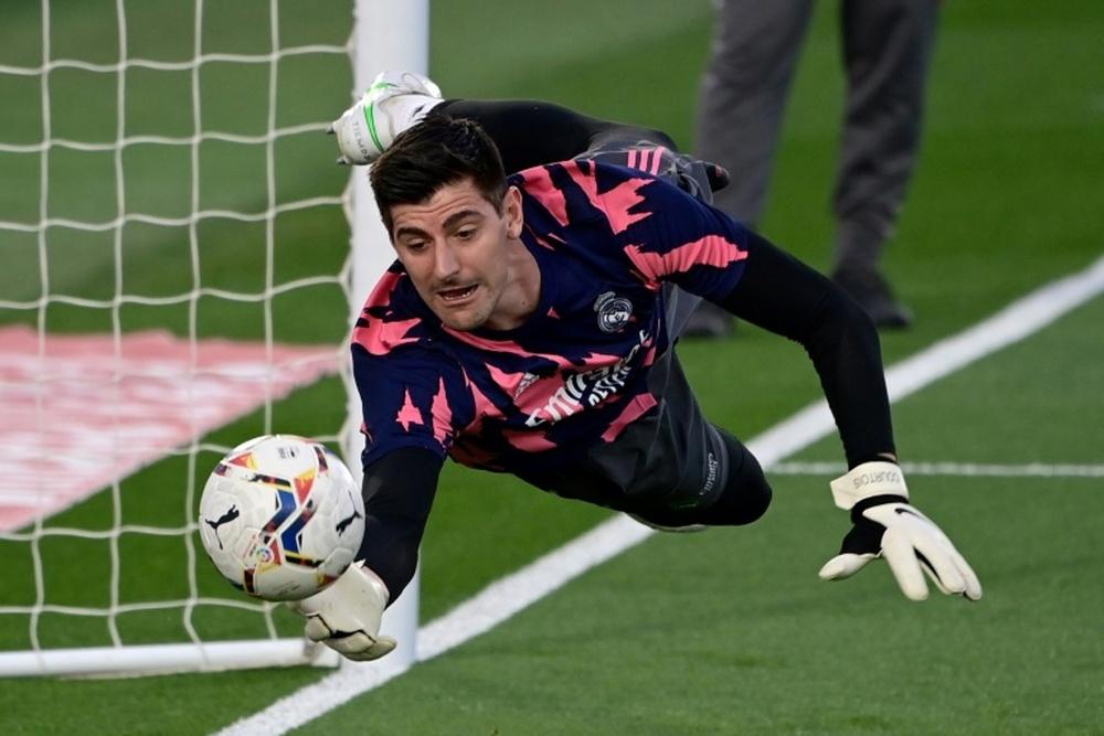 Courtois criticou duramente a UEFA e a FIFA. AFP
