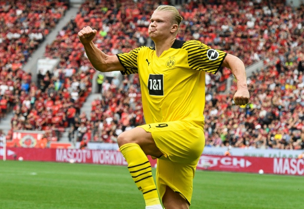 Erling Haaland is in no rush to decide on his future. AFP