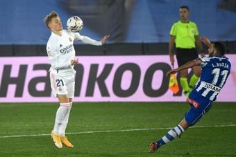 Odegaard no ha olvidado su paso por el Real Madrid. AFP