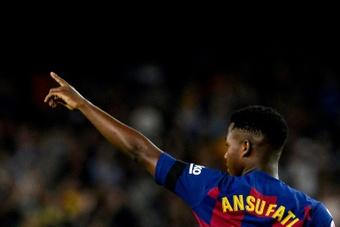 El Barça jugará con Ansu Fati como referente; queda por ver si jugará o no Jordi Alba. AFP