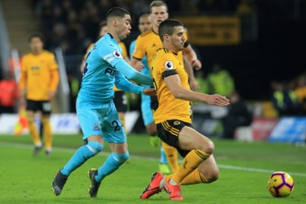 Conor Coady (R) is liked by several big clubs in the Premier League. AFP