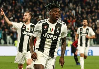 Moise Kean est de retour à la Juventus. AFP