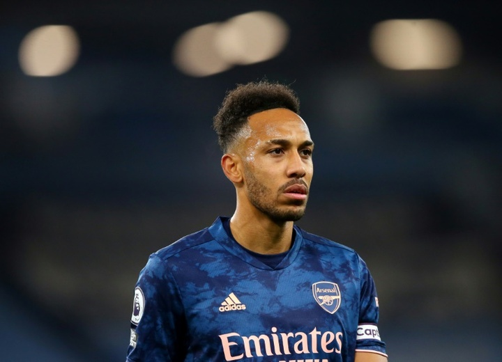 Aubameyang pourrait finalement quitter Arsenal cet été. AFP
