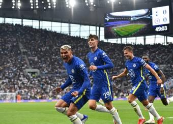 El Chelsea no dio opción al Tottenham. AFP