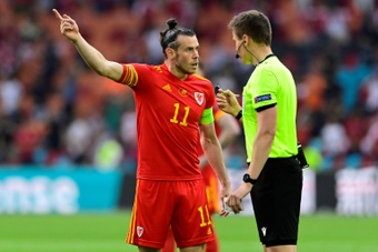 Bale scored for Wales in Belarus. Screenshot/UEFATV