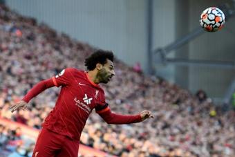 Mo Salah, protagonista indiscutido de la goleada 'red'. AFP/Archivo