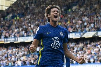 O renascer de Marcos Alonso no Chelsea.AFP