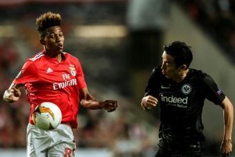 Portugal midfielder Gedson Fernandes (left) has signed for Tottenham. AFP