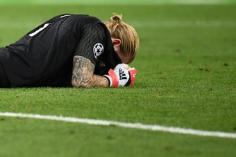 Karius volvió a ser titular con el Liverpool. AFP