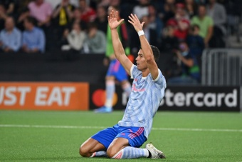 Solksjaer elogia Ronaldo. AFP