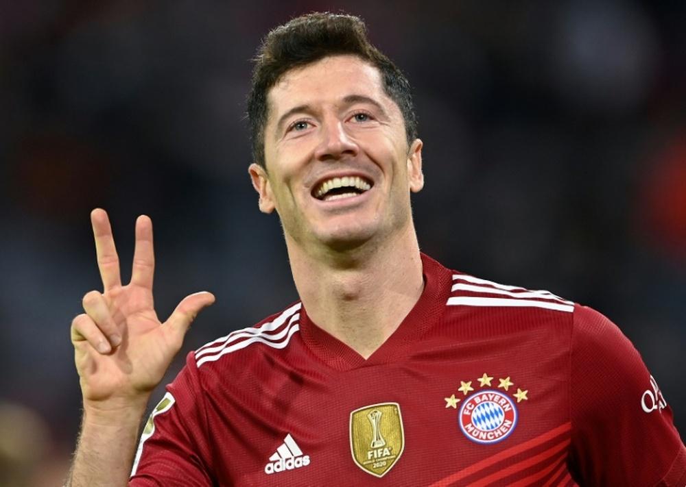Lewandowski commenta i rumors sul Real. AFP