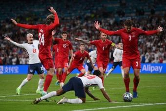 Dinamarca quiere alcanzar el Mundial. AFP
