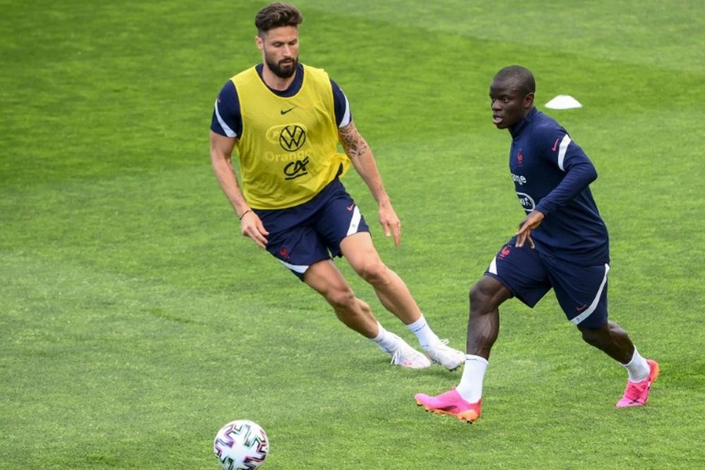 Giroud falou sobre o Kanté.AFP