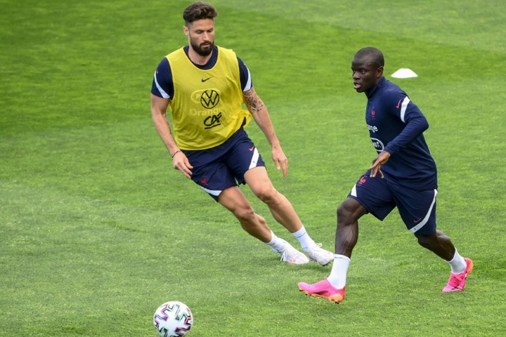 Olivier Giroud parle de N'Golo Kanté. AFP