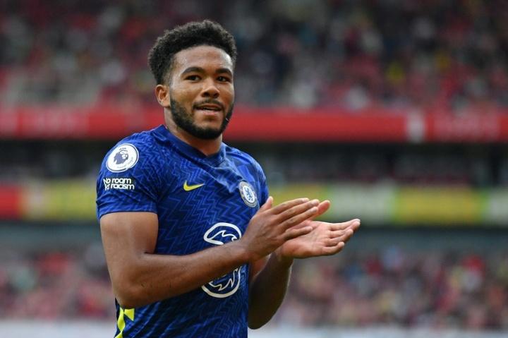 Reece James was Chelsea's hero against Aston Villa. AFP