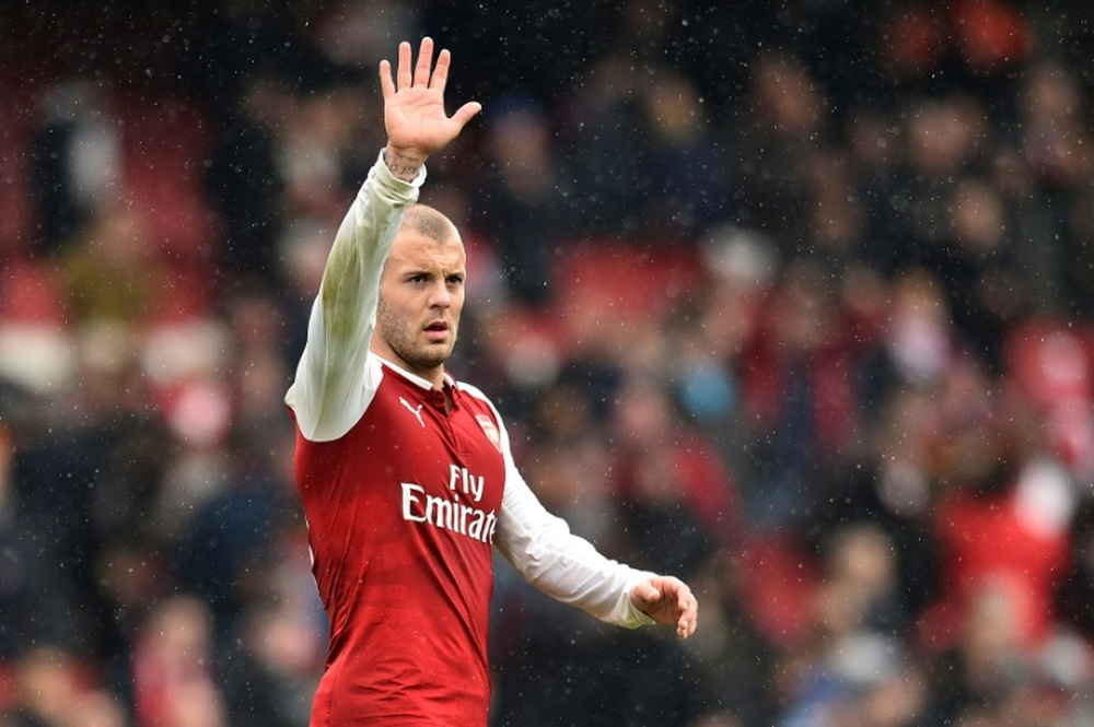 Wilshere si allena con l'Arsenal. AFP