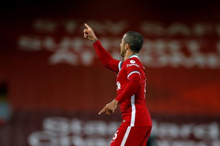 Klopp spera di recuperare Thiago Alcantara nel mese di ottobre. AFP