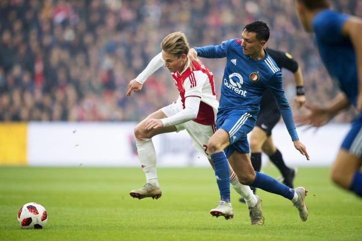 Berghuis goes to Feyenoord's long-standing rival. AFP
