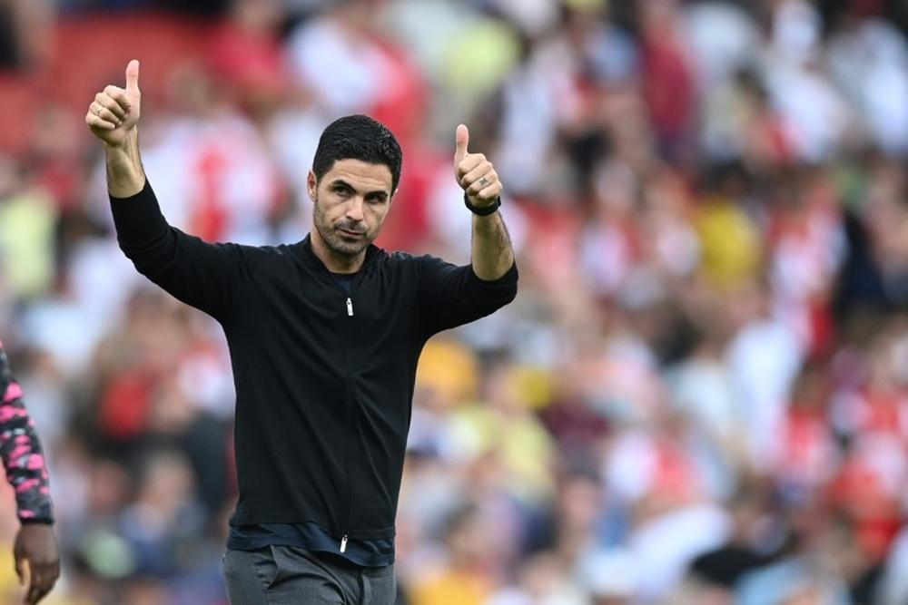 Mikel Arteta is remaining upbeat despite Arsenal's tough start to the season. AFP