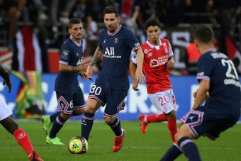 Reims entró en ebullición por Messi y Mbappé. AFP